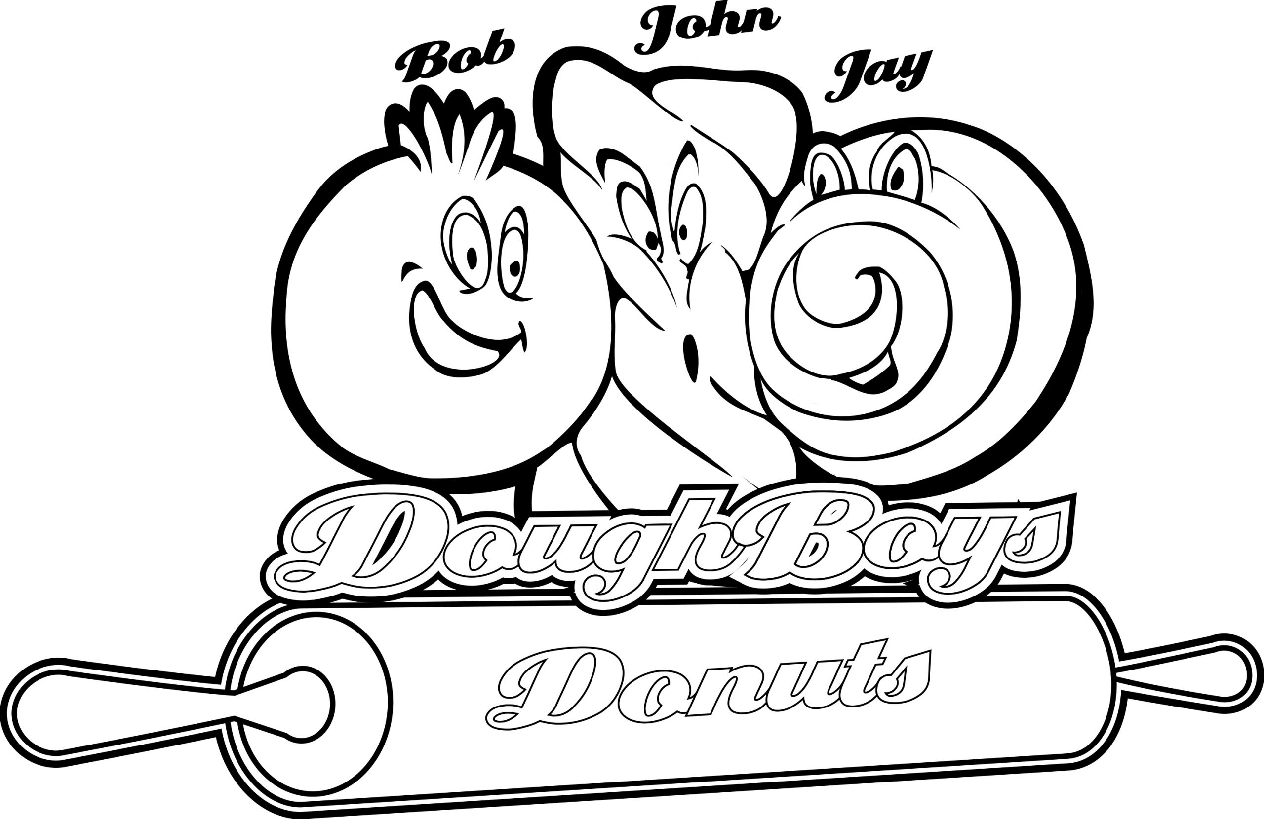 DoughBoys Donuts Coloring page