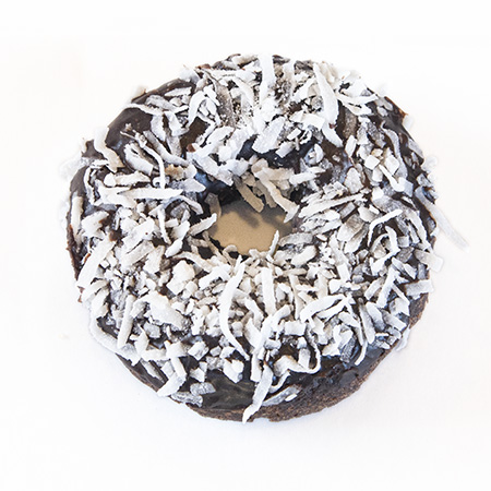 devils food cake chocolate coconut donut