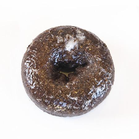 devils food cake glaze donut