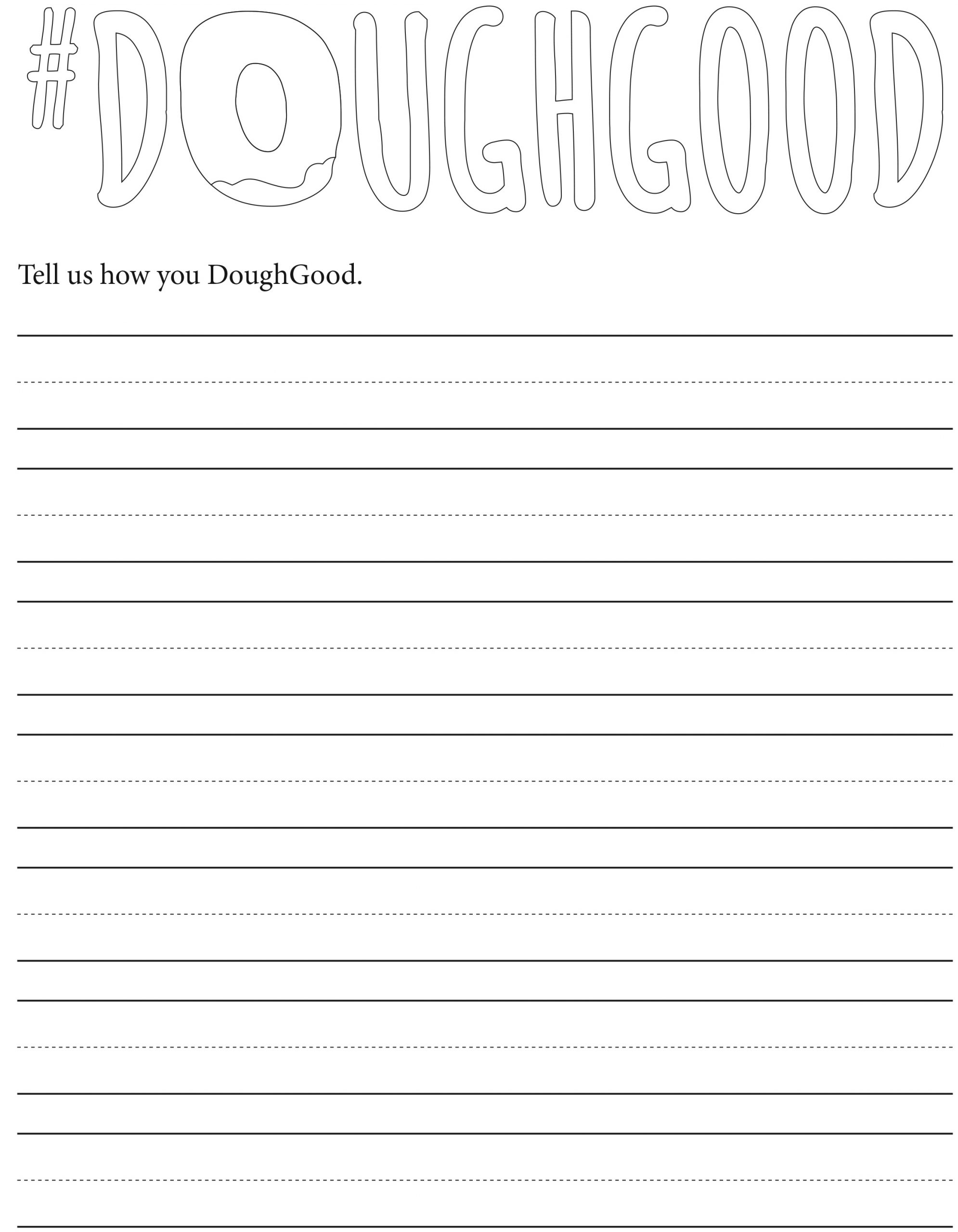 doughgood coloring page