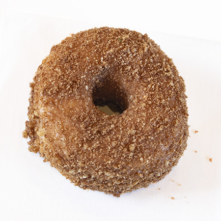 raised crumb donut