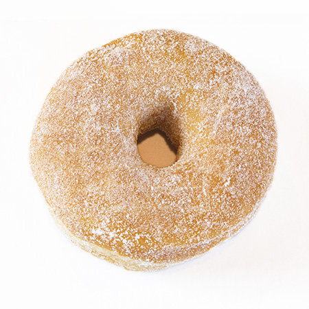 raised sugar donut