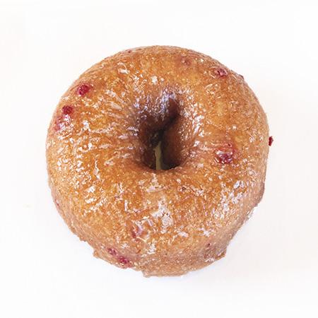 strawberry cake donut
